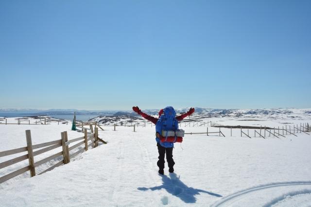 0037 Dag 4 Utsikt mot Sarnespollen, fremdeles på Magerøya
