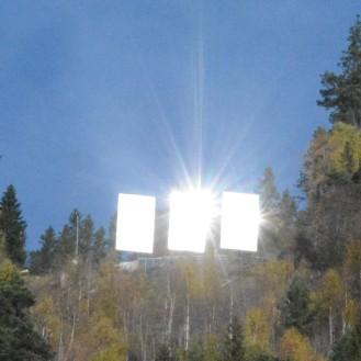 Solspeilet over Rjukan