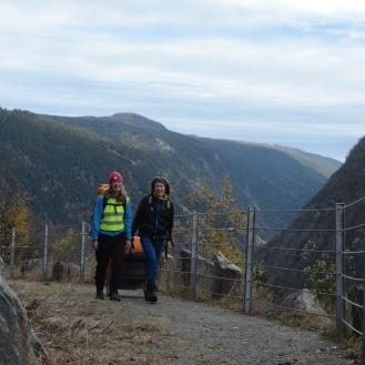 Opp bakkene opp fra Rjukan