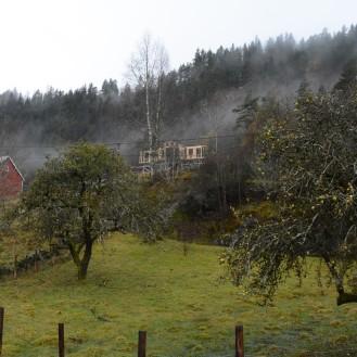 Smedsland. Huset til Birgitte og Ole tar form.