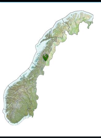 Kart, hvor jeg går inn i Norge igjen