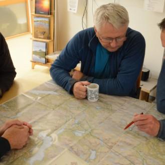 Lierne nasjonalparksenter, hvor jeg får hjelp med rutevalg gjennom Blåfjella-Skjækerfjella